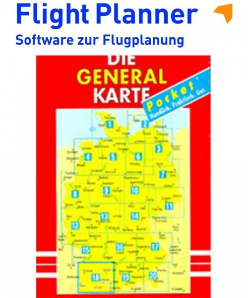 Flight Planner / Sky-Map - Deutsche Generalkarte mit Flugsicherungsaufdruck (1:200.000, Blatt 1-20 komplett)
