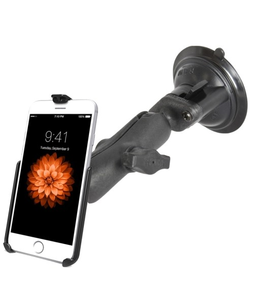 RAM MOUNTS Suction Cup Mount for Apple iPhone 6/7 (without sleeves) - medium size connector