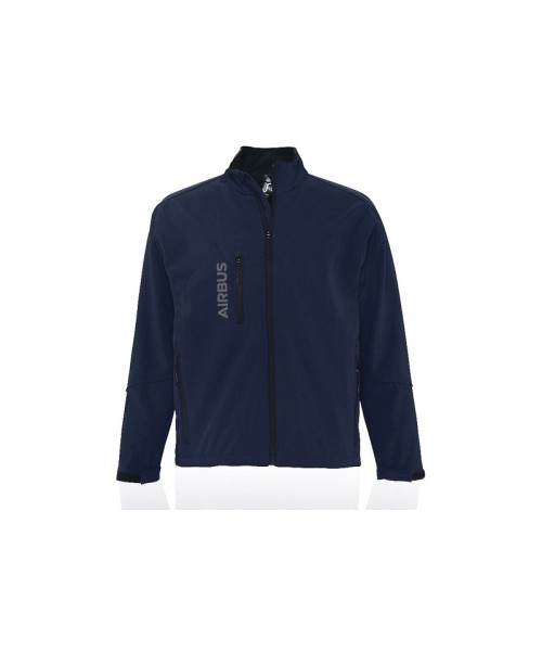 Airbus Softshell Zipped Jacket for Men - blue