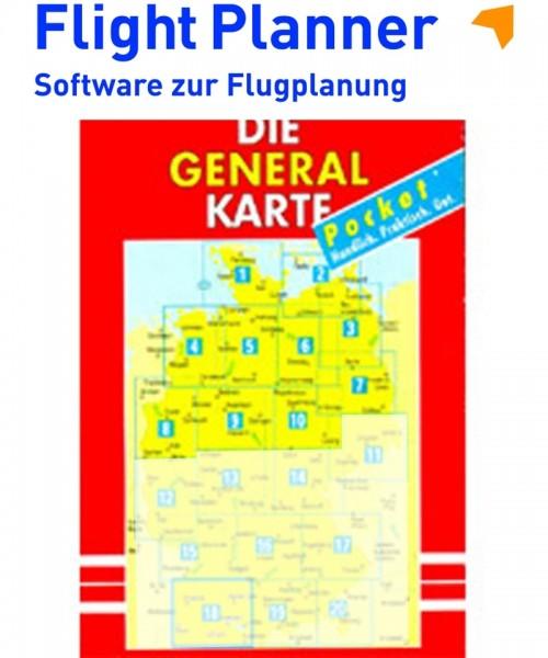 Flight Planner / Sky-Map - Deutsche Generalkarte mit Flugsicherungsaufdruck (1:200.000, Blatt 1-10 Nord)