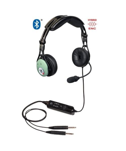 David Clark PRO-X2 Hybrid ENC Headset - active, Twin Plugs (GA), Bluetooth (model 43105G-01)