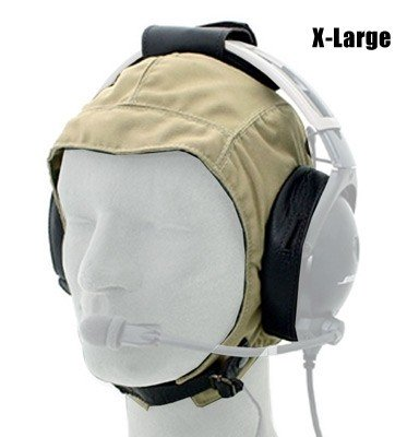Cloth / Leather Headset Flying Helmet - Extra-Large