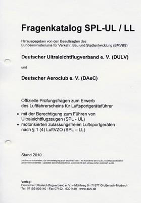 UL-Fragenkatalog - SPL-UL (Printversion inkl. Ordner)