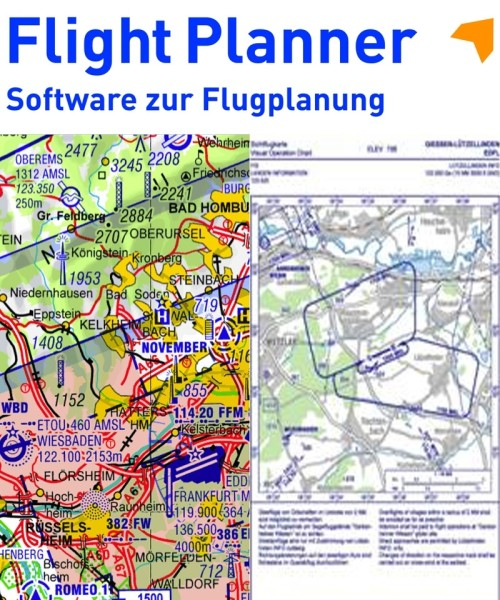 Flight Planner / Sky-Map - Trip-Kit Deutschland (ICAO-Karten u. AIP)