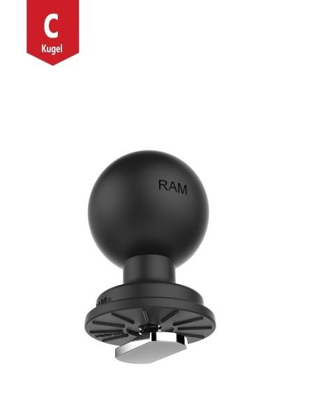 RAM Mounts Verbundstoff-Kugel mit T-Slot für Tough-Track Schienen - C-Kugel (1,5 Zoll), im Polybeute