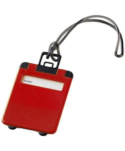 Luggage Tag - red/black
