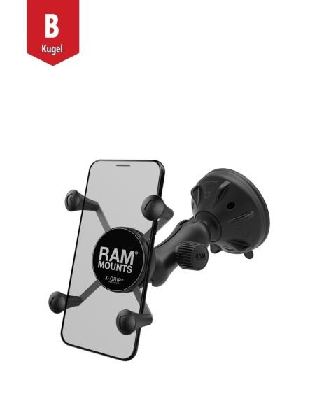 RAM MOUNT X-Grip Suction Cup Mount for Smartphones, short arm - RAP-B-166-2-UN7U