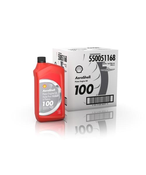 AeroShell Oil 100 - Box (6x 1 AQ Bottles, US-Quart)