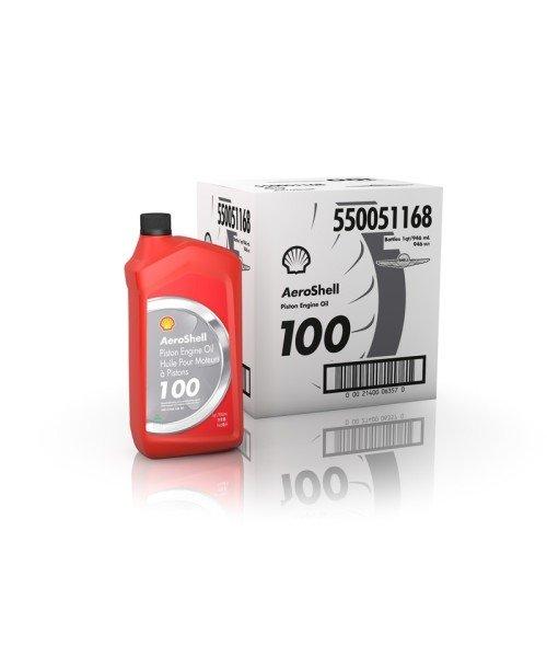 AeroShell Oil 100 - Karton (6x 1 AQ Flaschen, US-Quart)
