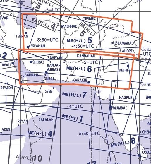 Jeppesen Enroute Chart Mittlerer Osten - ME (H/L) 5/6