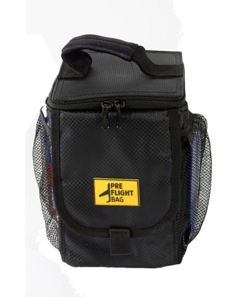 PreFlight Bag - for Oil Bottles, Fuel Testers and more, Nylon, black