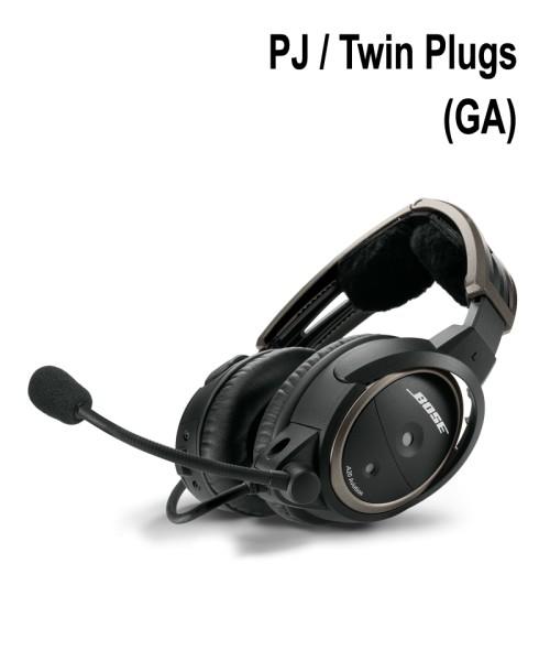 BOSE A20 Aviation Headset - Twin Plugs, Straight Cord