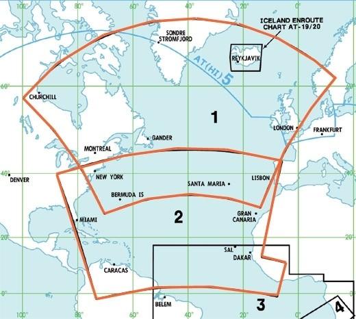 Jeppesen Enroute Chart Atlantik - AT (H/L) 1/2