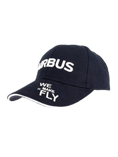 Airbus Basecap - We make it fly, dunkelblau mit weißer Bestickung