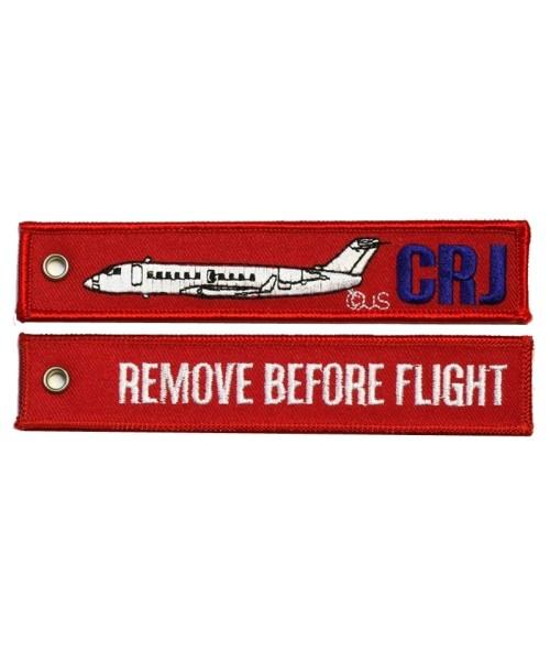 Key Ring REMOVE BEFORE FLIGHT / CRJ