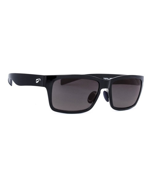 Flying Eyes Sunglasses Kingfisher - Glossy Black Frame, Solid Grey Lenses