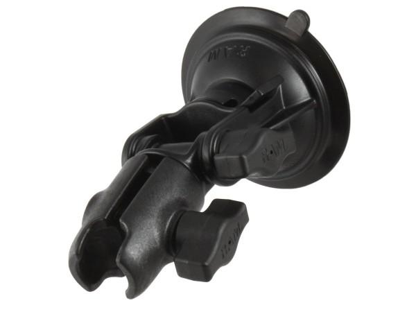 RAM Mounts Saugfuss mit Drehgelenk - Drehverschluss, für B-Kugeln (1 Zoll), im Polybeutel