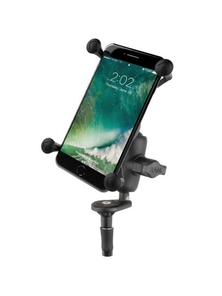 RAM Mounts Motorradhalterung mit X-Grip Universal Halteklammer für große Smartphones (Phablets) - Le