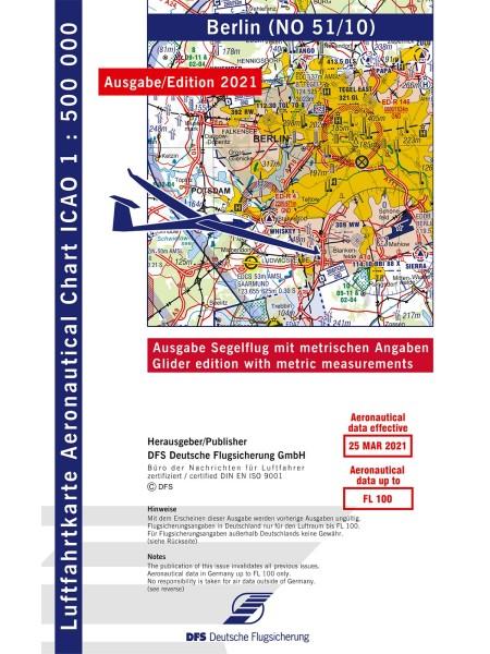 ICAO Segelflugkarte Deutschland 2021 ohne Folie