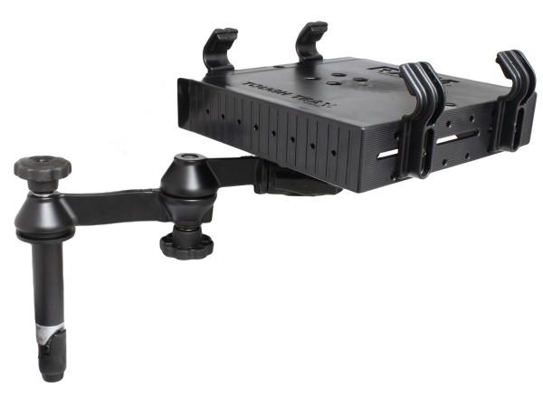 RAM Mounts Doppel-Schwenkarm mit Tele-Pole (ca. 100 mm) und Laptop-Halteschale - Octagon-Verbindungs