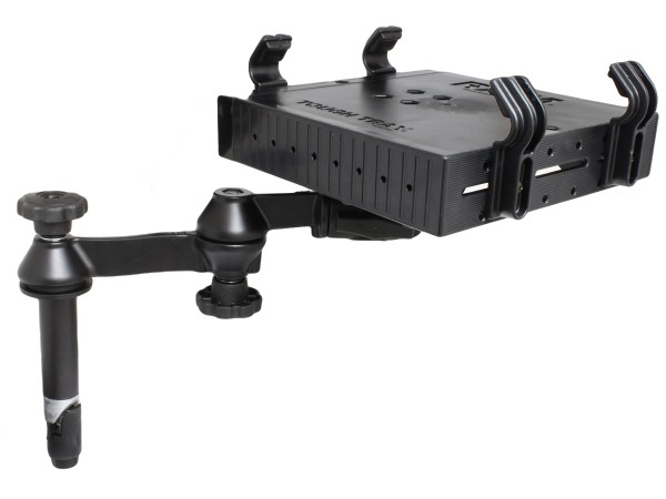 """RAM DBL SWING ARM 4"""" MALE WITH TRAY"""