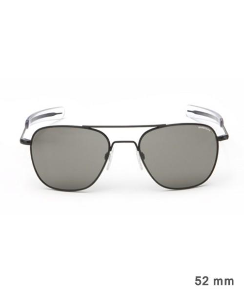 Randolph Aviator Size 52 (small) - matte black frame, neutral grey lenses, bayonet temples