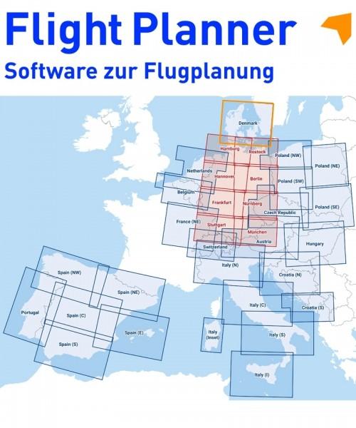Flight Planner / Sky-Map - DFS Visual 500 Dänemark