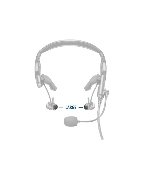 BOSE Silicon Ear Tipkit Stayhear ProFlight Headset - Large, 2 Pairs