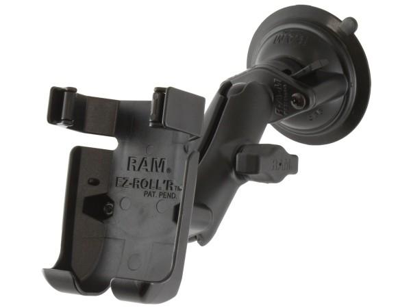 RAM Mounts Saugfuss-Halterung Garmin GPSMAP 78 - mittlerer Verbindungsarm, 2x Diamond-Basisplatte (T