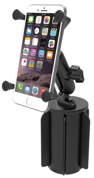 RAM Mounts Fahrzeughalterung mit X-Grip Universal Halteklammer für große Smartphones (Phablets) - Ba