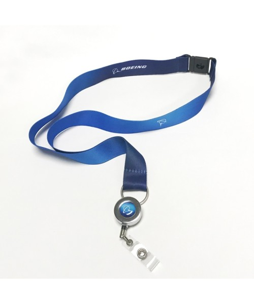 Boeing Lanyard Living Blue - blue with ID holder