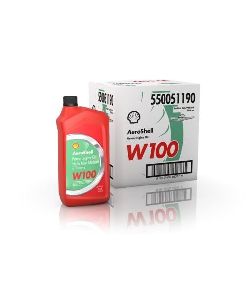 AeroShell Oil W100 - Box 6x 1 AQ Bottles, US-Quart)