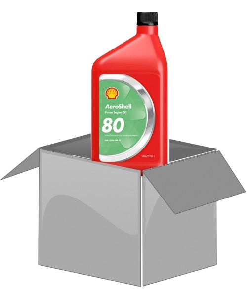 AeroShell Oil 80 - Karton (12x 1 AQ Flaschen)