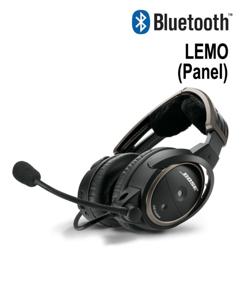 BOSE A20 Aviation Headset - LEMO Plug (Panel), Straight Cord, Bluetooth
