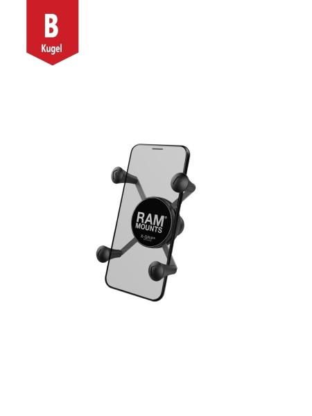RAM Mounts X-Grip Universal Halteklammer für Smartphones - mit B-Kugel (1 Zoll), im Polybeutel