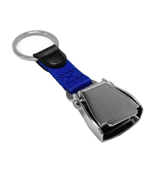 Schlüsselanhänger Airline Seatbelt - blau