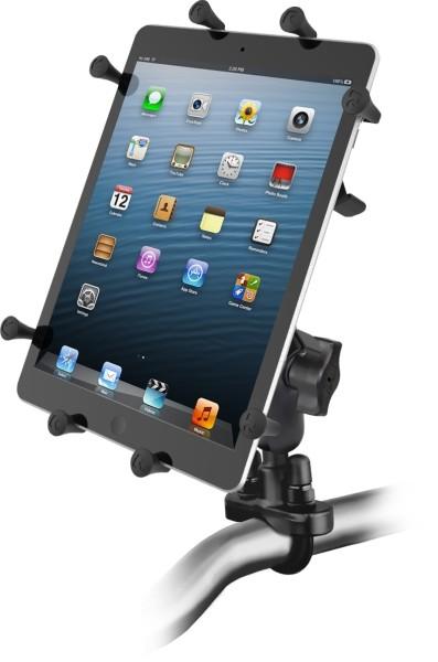 RAM Mounts Lenkerhalterung mit X-Grip Universal Halteklammer für 10 Zoll Tablets - Klemmschelle, mit
