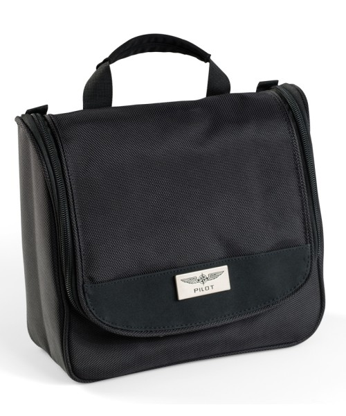 PILOT Wash Bag - Cosmetic Bag, Nylon, black