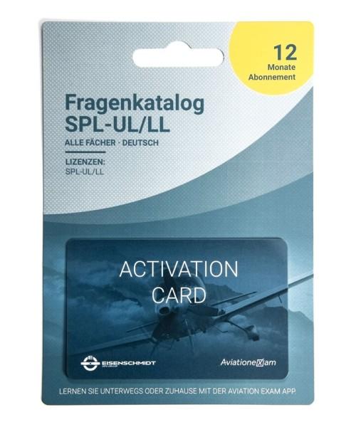 Fragenkatalog SPL-UL / LL - Produktkarte, Abo 12 Monate, deutsch