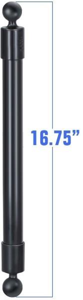 RAM Mounts Verbundstoff-Verlängerungsarm mit B-Kugeln (1 Zoll) - ca. 425 mm lang, im Polybeutel