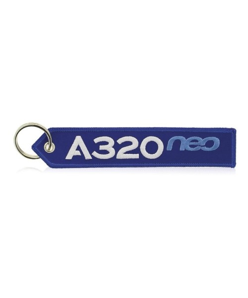 Airbus Key Ring A320neo - blue/white