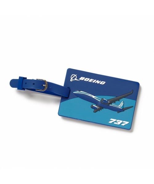 Boeing Gepäckanhänger 737 Jetliner - 3D, mit Namensschild