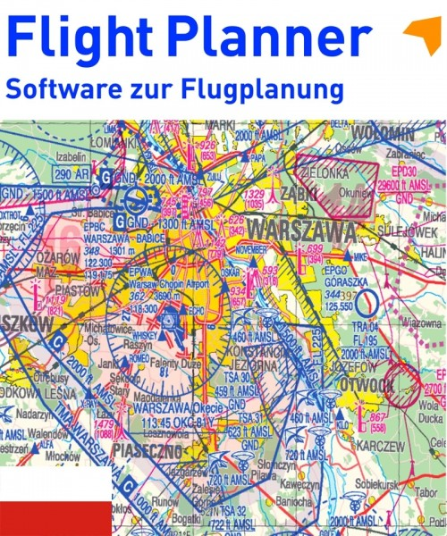 Flight Planner / Sky-Map - ICAO Karte Polen (PANSA)