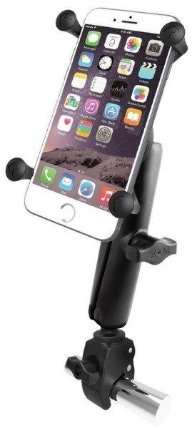 RAM Mounts Tough-Claw Halterung (Rohre/Stangen) mit X-Grip Universal Halteklammer für große Smartpho