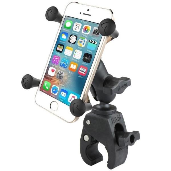 RAM Mounts Tough-Claw Halterung (Rohre/Stangen) mit X-Grip Universal Halteklammer für Smartphones -