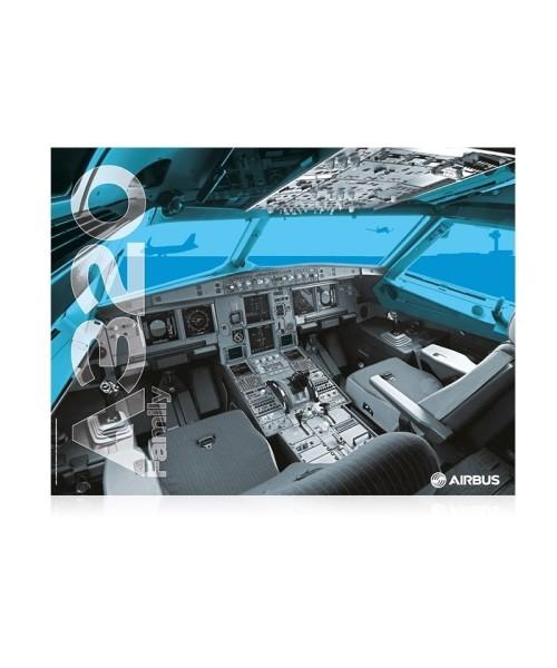 Airbus A320 Cockpit Poster - 80 x 60 cm