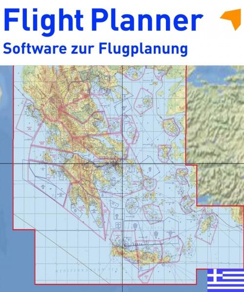 Flight Planner / Sky-Map - GAM VFR-Karte Griechenland, 1:500:000