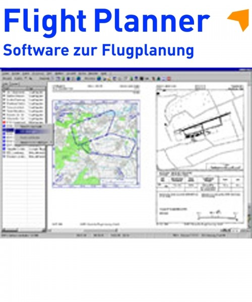 Flight Planner / Sky-Map - AIP VFR Landing Pattern Germany with Heli Ports (incl. 1 year revision service via Internet)
