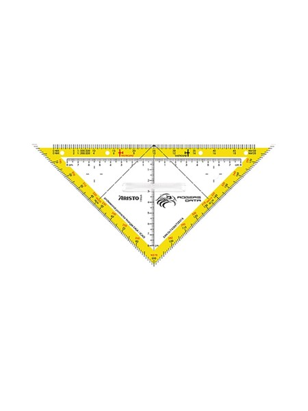 Navigation Protractor Triangle Rogers Data - with fixed grip