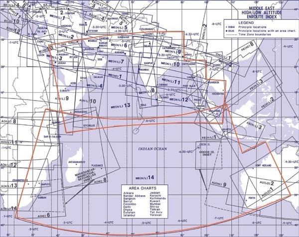 Jeppesen Enroute Chart Mittlerer Osten - ME (H/L) 13/14